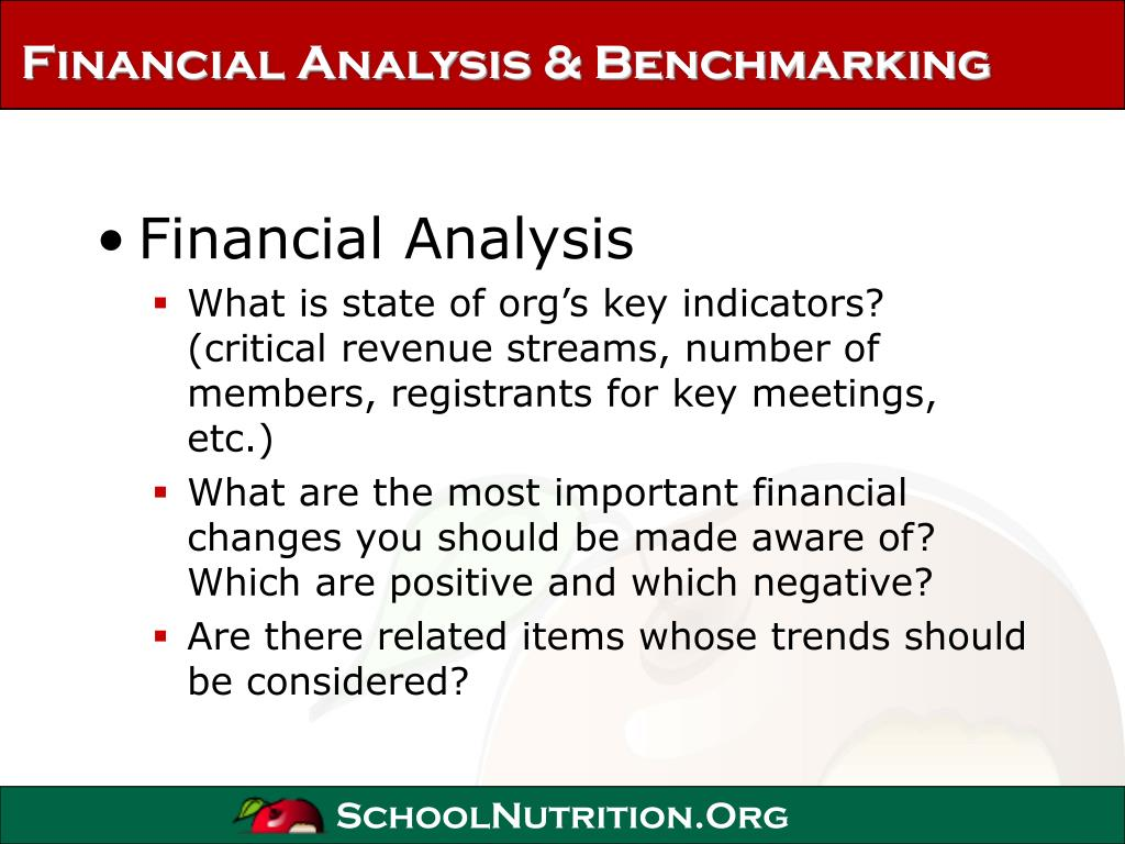Financial Analysis & Benchmarking