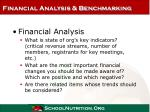 financial analysis benchmarking