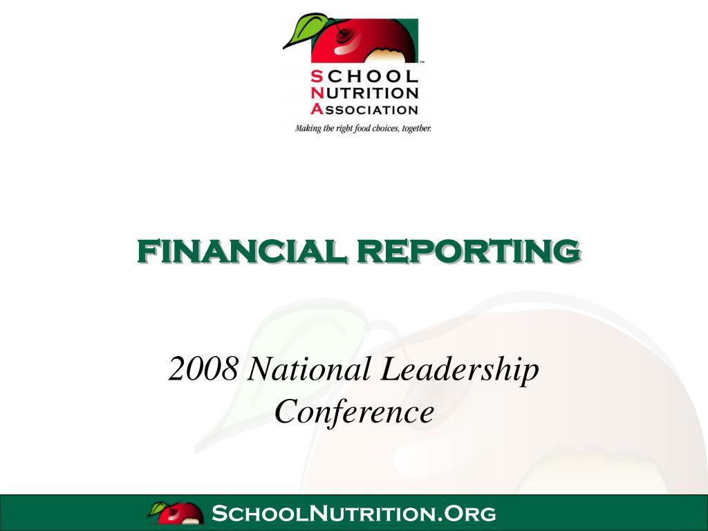 financial reporting l.