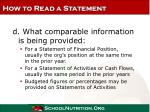 how to read a statement18