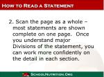 how to read a statement19