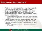 system of accounting