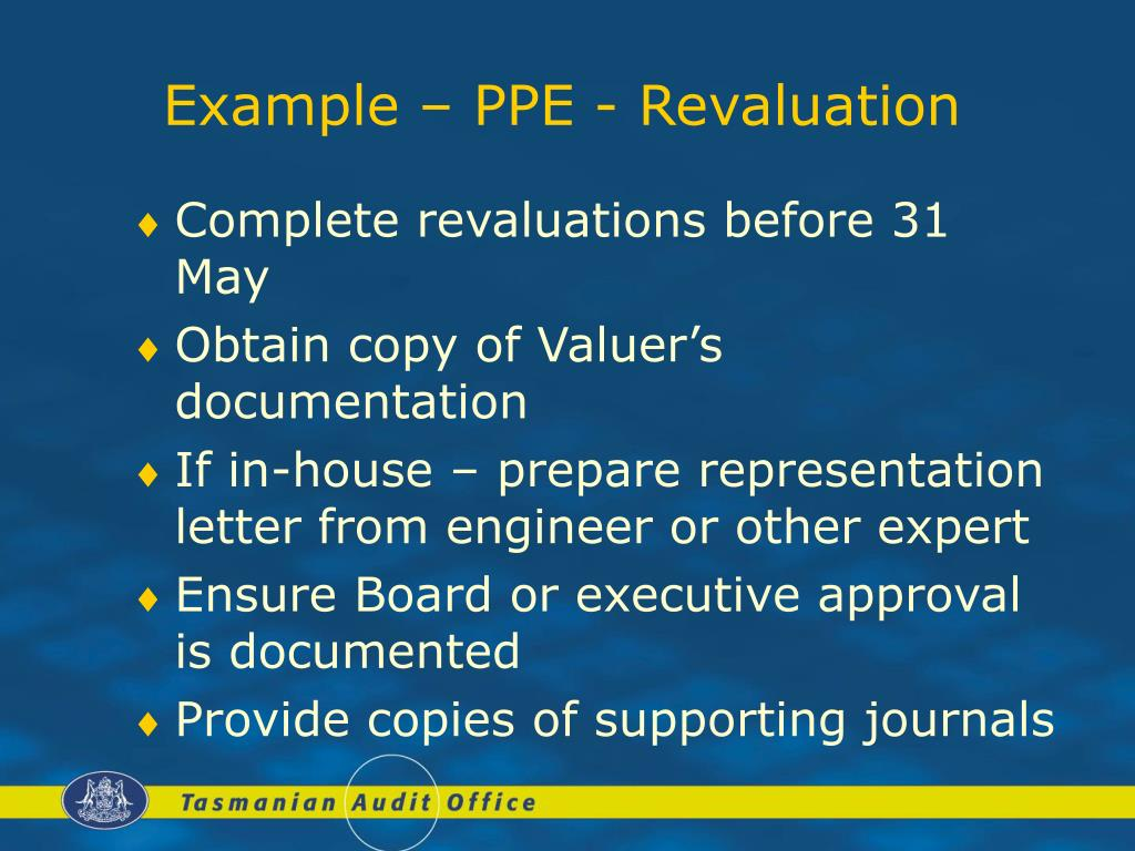 Example – PPE - Revaluation