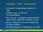 example ppe revaluation