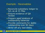 example receivables