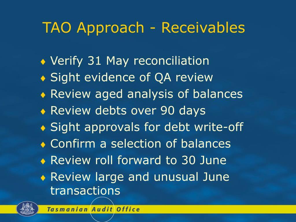 TAO Approach - Receivables