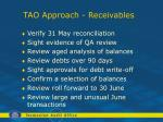 tao approach receivables