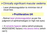 clinically significant macular oedema28
