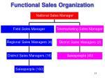 functional sales organization