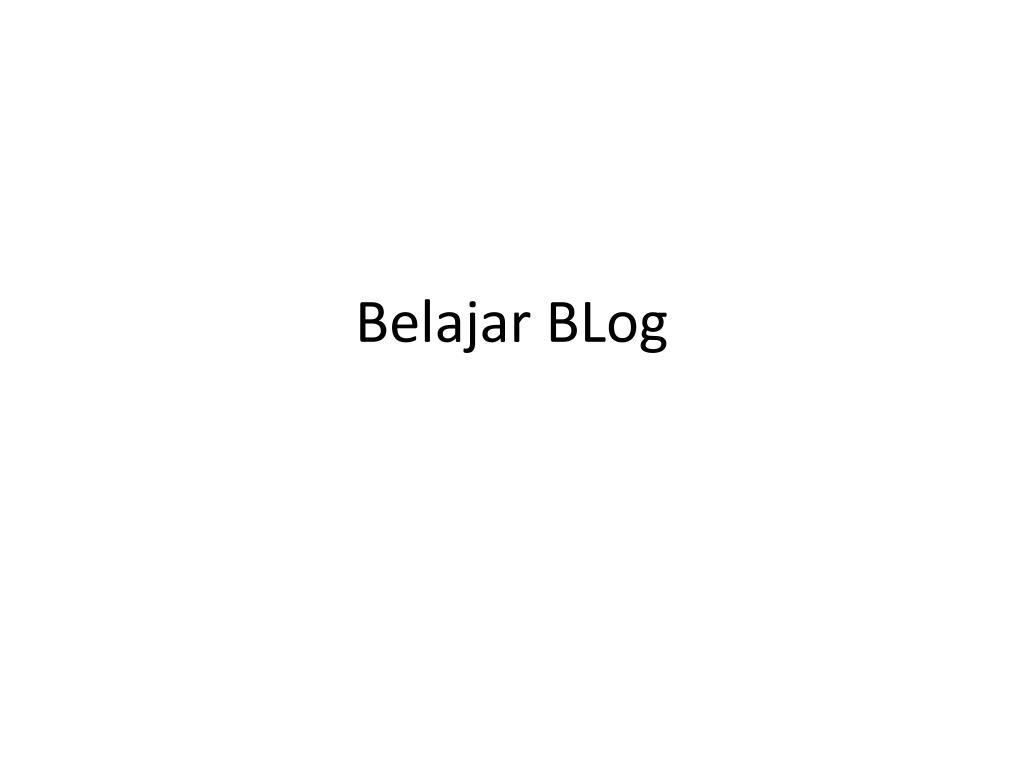 belajar blog l.