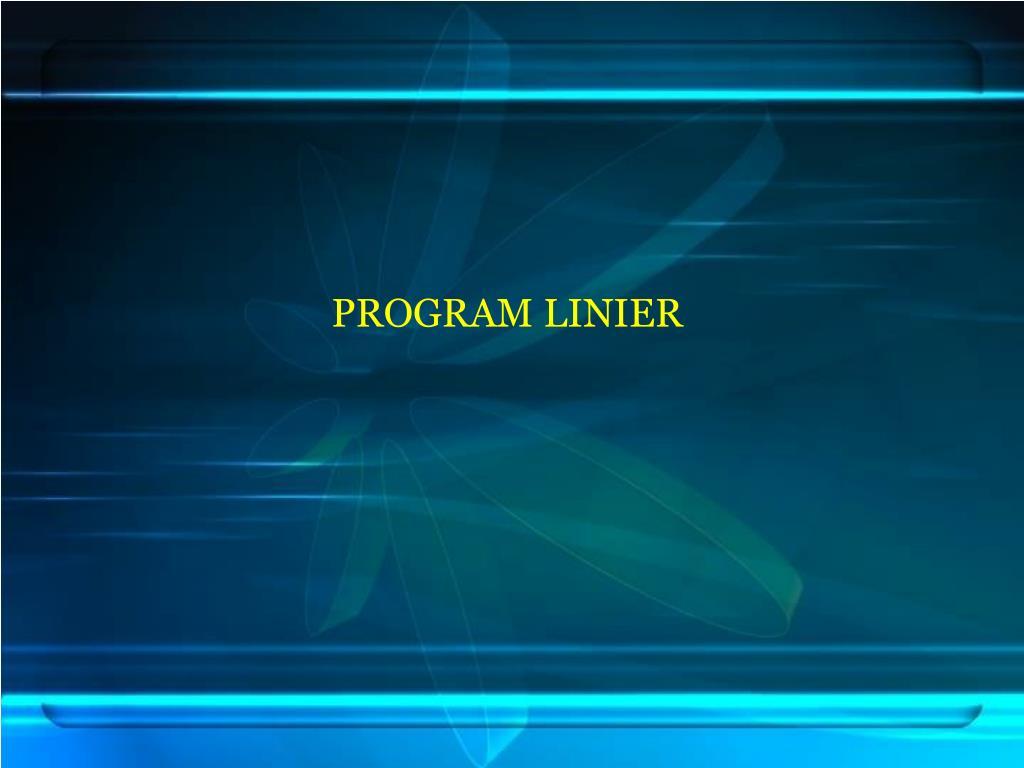 program linier l.