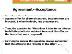 agreement acceptance