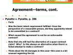 agreement terms cont