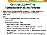 contract law the agreement making process