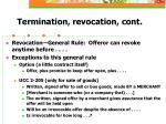 termination revocation cont