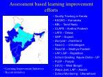 assessment based learning improvement efforts