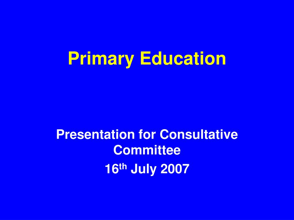 primary education l.