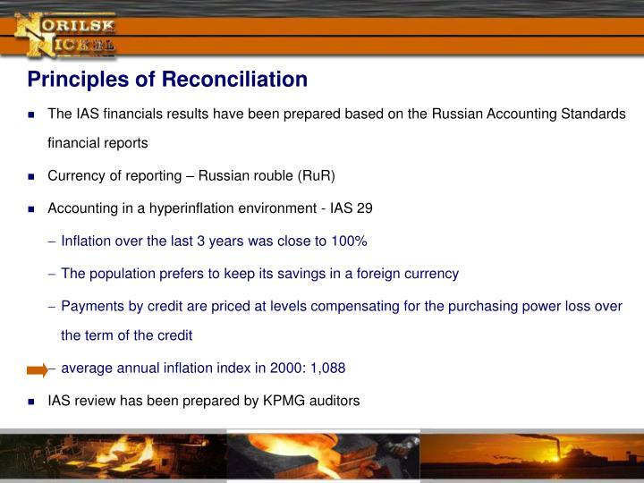 Principles of Reconciliation