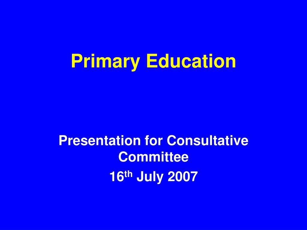 primary education l.