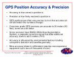 gps position accuracy precision