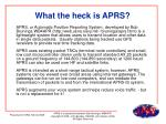 what the heck is aprs