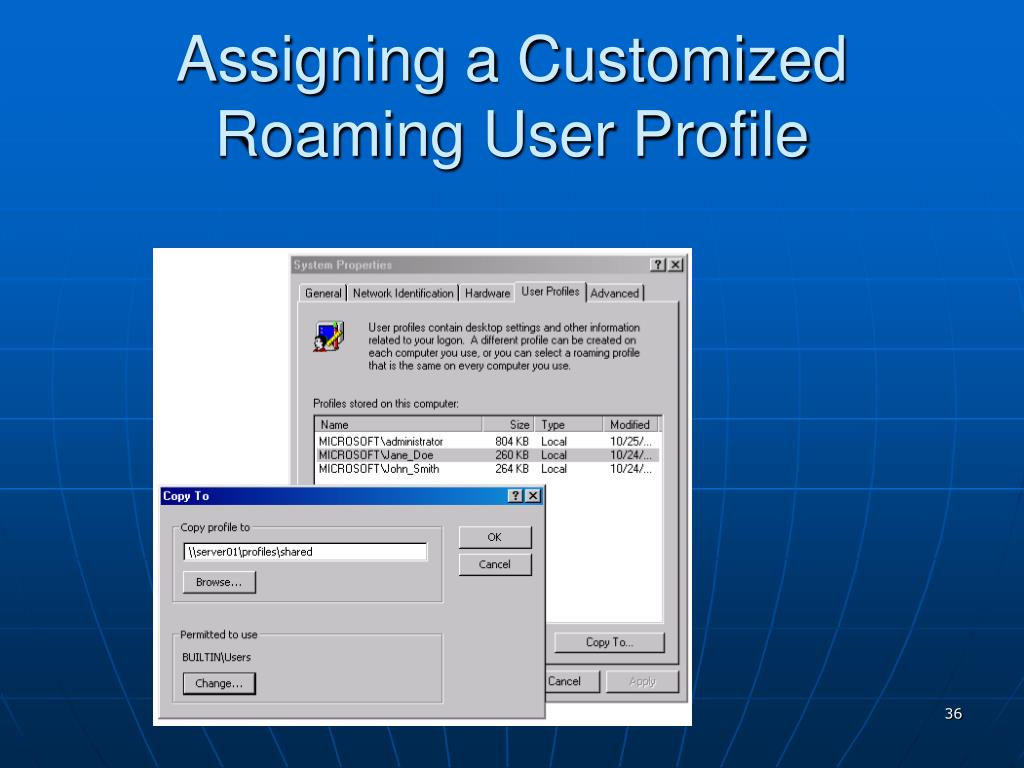 Assigning a Customized Roaming User Profile
