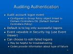 auditing authentication
