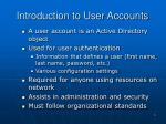introduction to user accounts