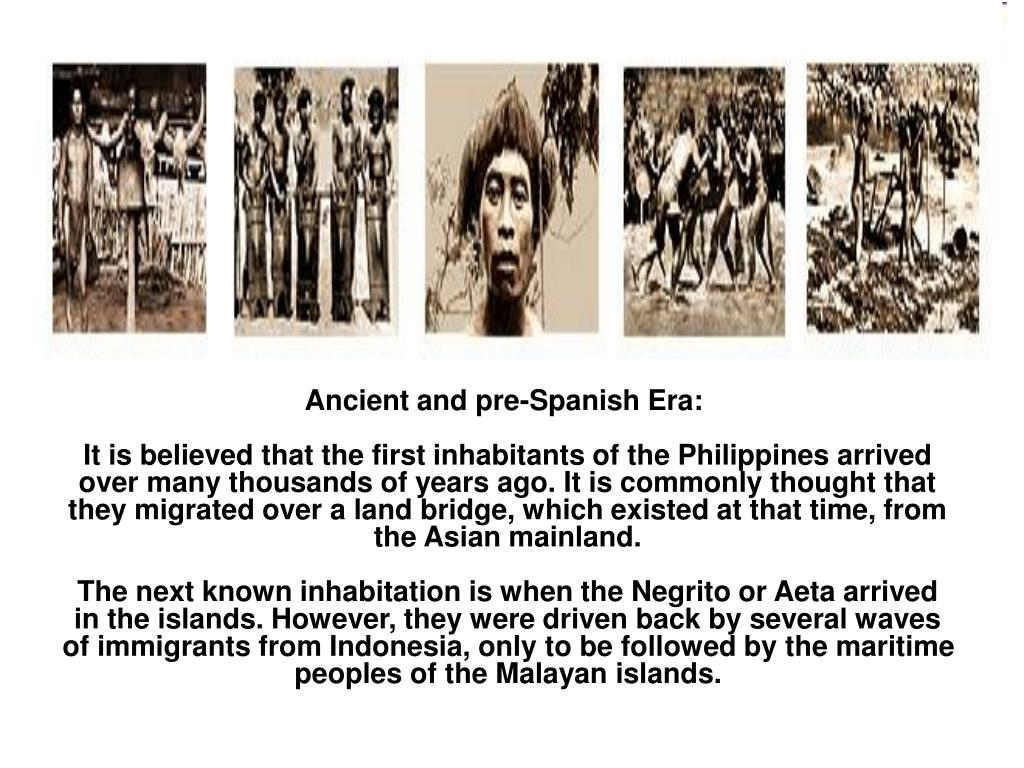 Ancient and pre-Spanish Era: