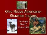 ohio native americans shawnee indians