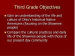 third grade objectives