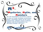m 3 m ysteries m yths and m onsters