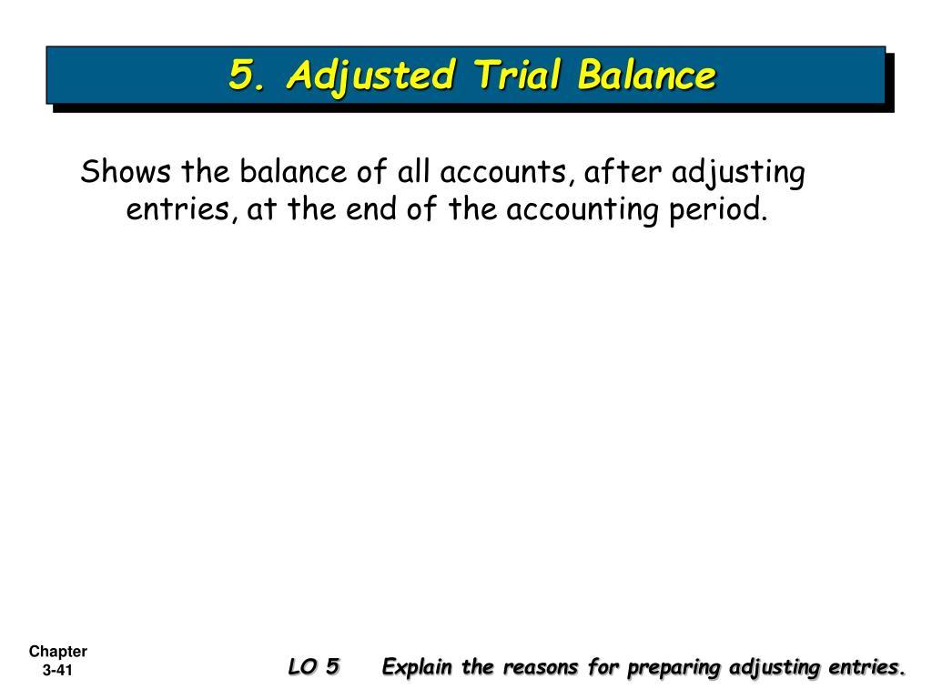 5. Adjusted Trial Balance