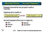 adjusting entries accrued expenses