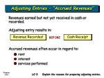 adjusting entries accrued revenues