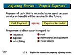 adjusting entries prepaid expenses