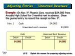 adjusting entries unearned revenues33
