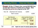 adjusting entries unearned revenues34
