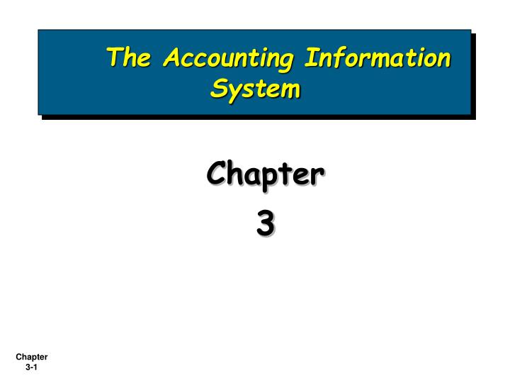 the accounting information system n.