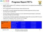 progress report fet s
