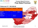 progress report provinces free state province