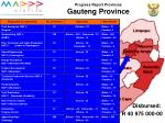progress report provinces gauteng province