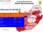 progress report provinces north west province