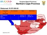 progress report provinces northern cape province