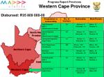 progress report provinces western cape province