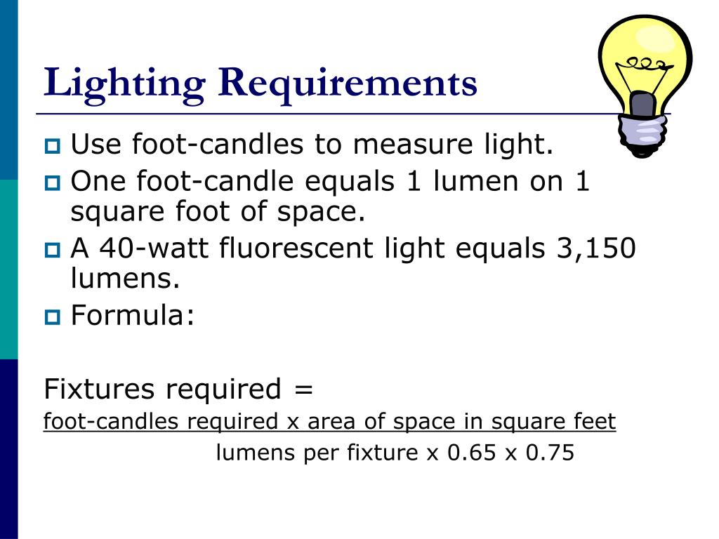 Lighting Requirements