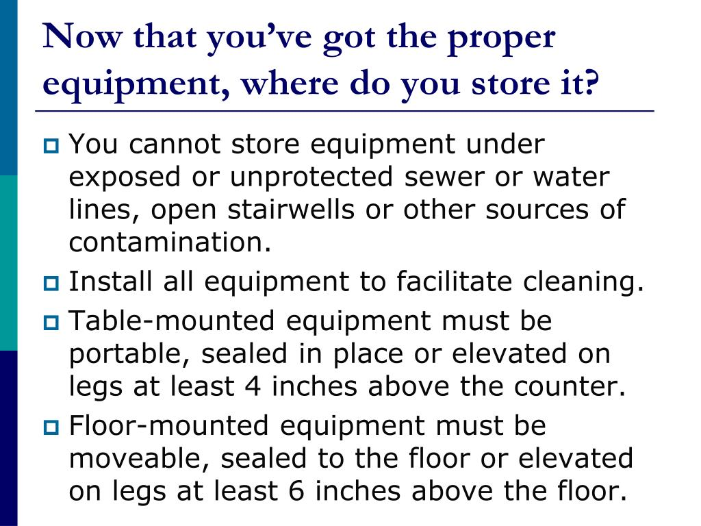 Now that you've got the proper equipment, where do you store it?