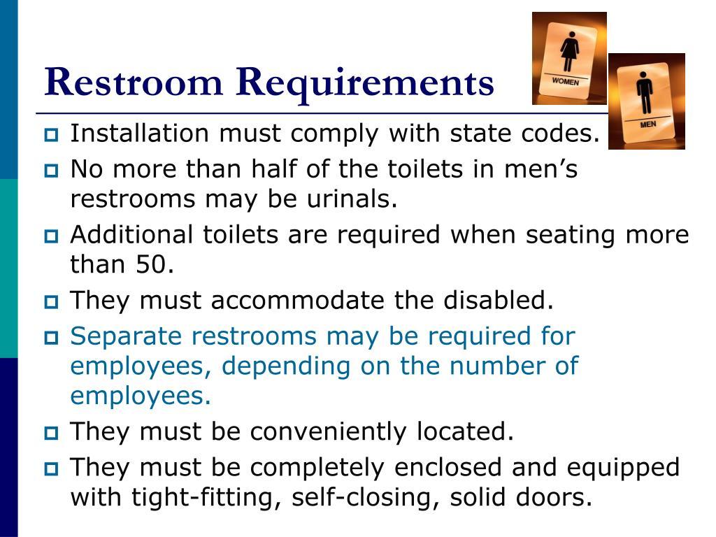 Restroom Requirements