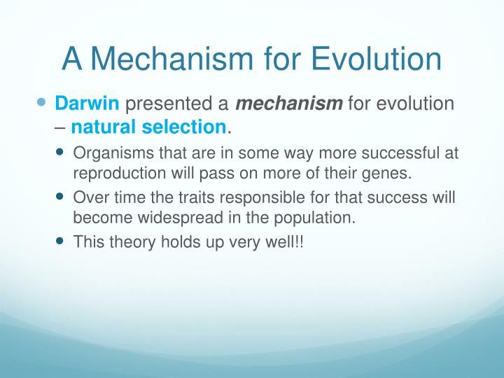 A Mechanism for Evolution