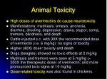 animal toxicity